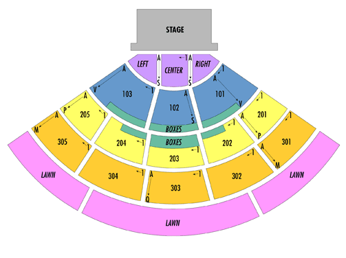 Cricket Wireless Amphitheatre Seating Chart